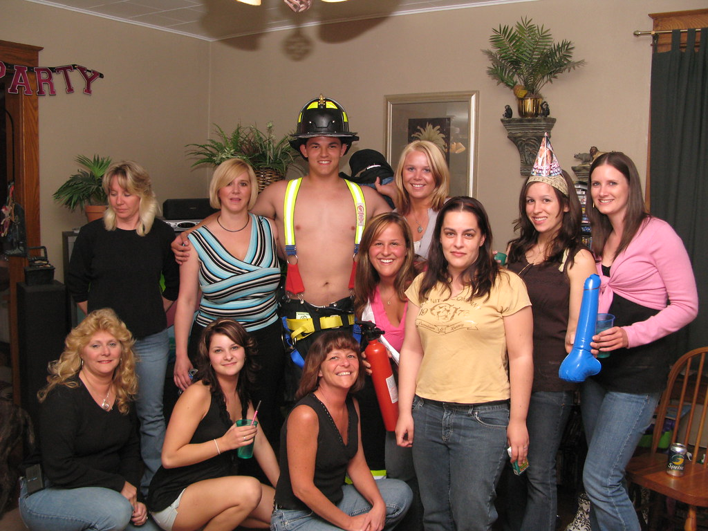 Bachelorette party at Stripper