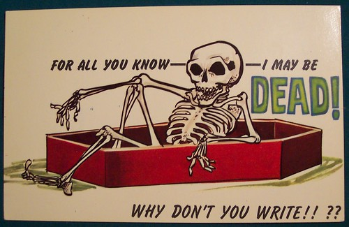 Skeleton Postcard ----- not to old