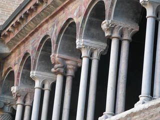 Bologna, detail of a cloister