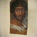 Mummy Portrait of a Bearded Man Roman Period Faiyum Region Egypt 170 - 180 CE Encaustic on Wood