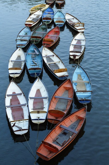 Thames boats at Richmond, Canon EOS 5