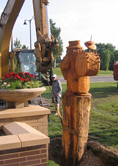 carving, art, chainsaw carving, garden, wood, tree, sculpture, statue,