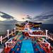 Norwegian Cruise Pool Deck At Sunset