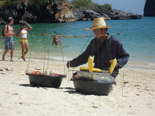 BBQ Corn on Pranang Beach, Krabi