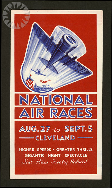 events  1932  cleveland  national air races  brochure