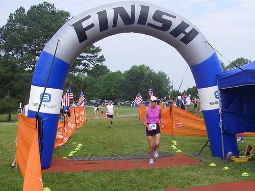 Susan Crosses the Finish Line