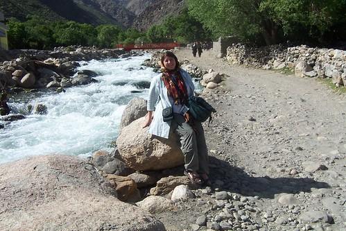 Jayne in Panjshir, Afghanistan, 2007