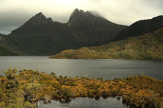 Cradle Mountain in fog (which is most of the time)