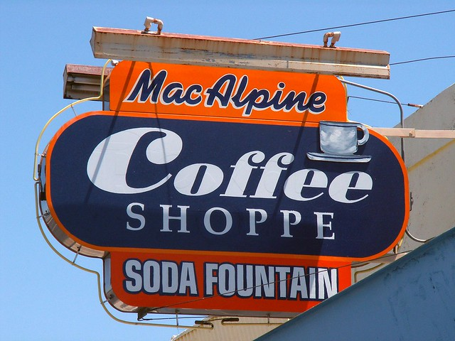 MacAlpine Coffee Shoppe Sign
