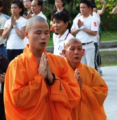 Monks from the Kong Meng San Phor Kark See Monastery - Singapore