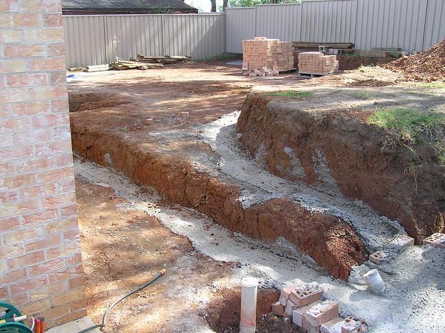 Retaining wall foundations flickr photo sharing