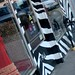 Zebra-striped storefront