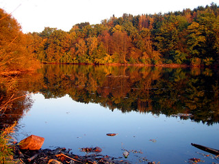 Indian Summer reflections at sunset 1