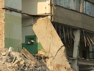 Jasło | Rozbiórka starego budynku przy ul. Jana Pawła II