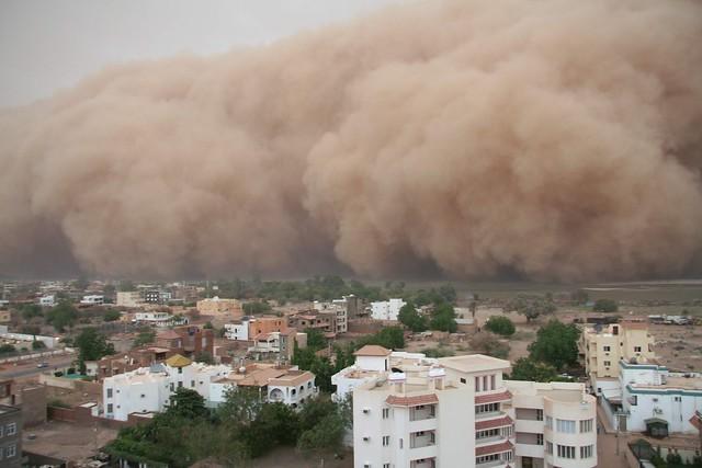 Haboob over the Nile, Khartoum, Sudan