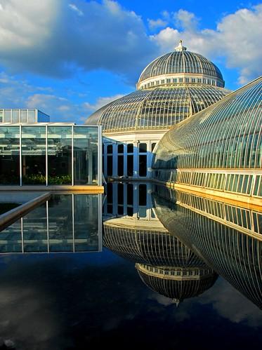 sunset reflection water minnesota garden botanical conservatory twincities saintpaul soe nothdr mcneeley