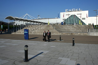 ExCeL Exhibition centre in Docklands, London