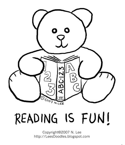 lee 39 s things Reading is fun colouring