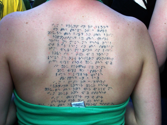 Braille flickr photo sharing for Modest mouse tattoo