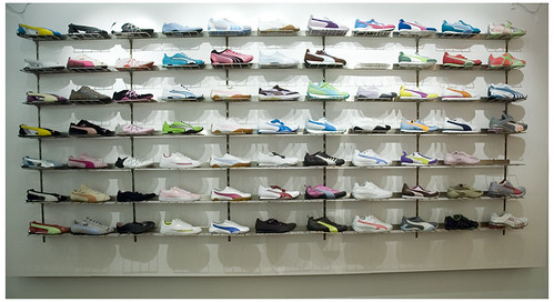... Puma Store wall of Shoes  5ccb6715ac20