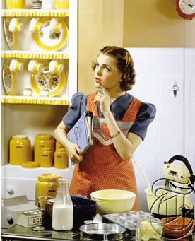 Housewife in Kitchen, 1940
