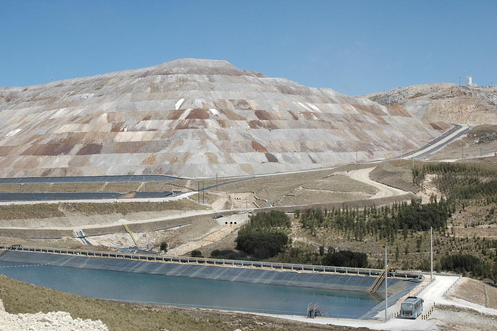 An industrial mine in Carachugo, Peru