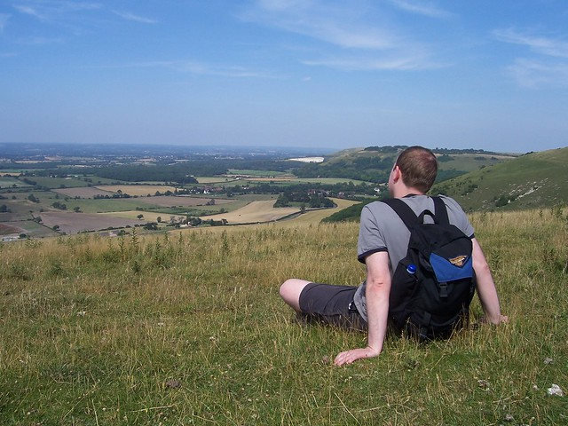 Admiring the View near Devil's Dyke