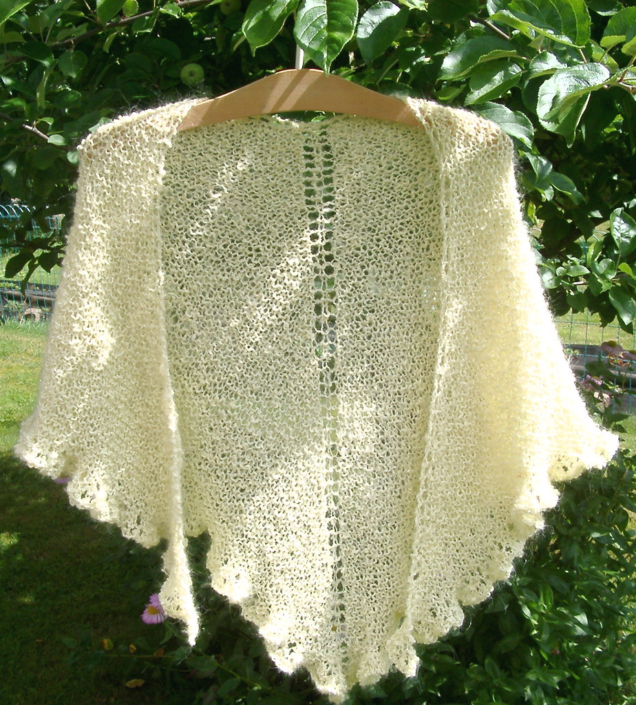 Small shawl, Mohair-Cotton-blend