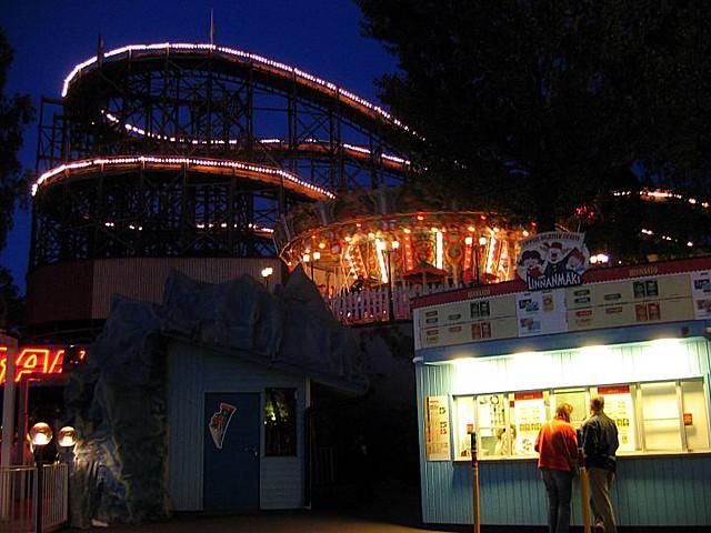 El parque de noche