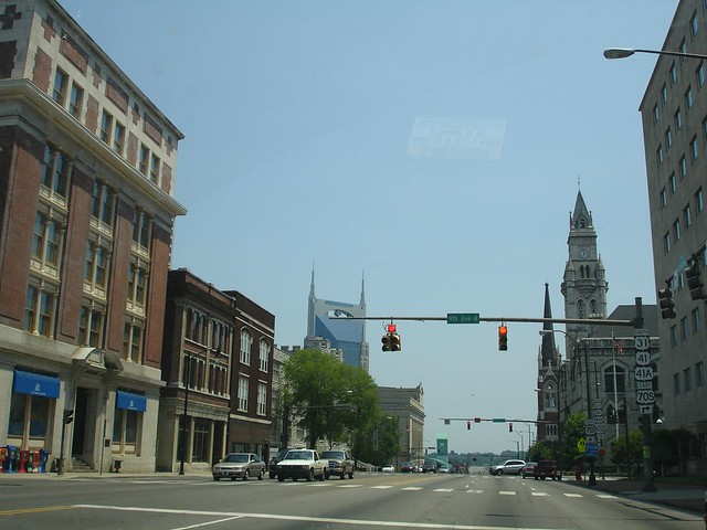 Downtown Nashville, Facing the 'Batman' Building
