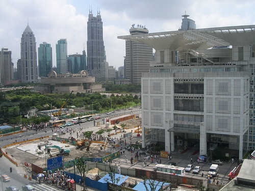 Shanghai Urban development centre on people's square