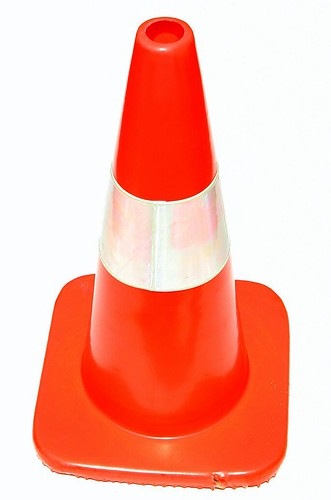 20D orange cone on white background