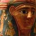 Egyptian Mummy Mask 1st century CE Linen Gesso closeup