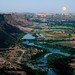 moon over the snake river canyon