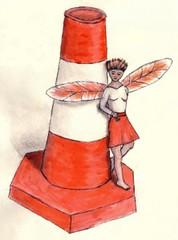 traffic cone fairy