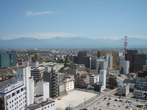 city mountain japan view toyama