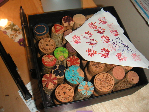 Box of cork stamps coming along