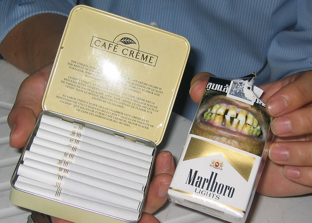 Cigarettes Sobranie sale in pubs