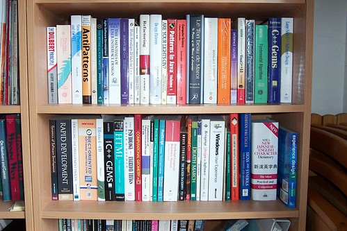 A programmers bookshelf