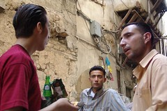 street discussion, Damascus