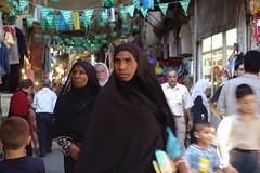 shoppers in the souk, Damascus