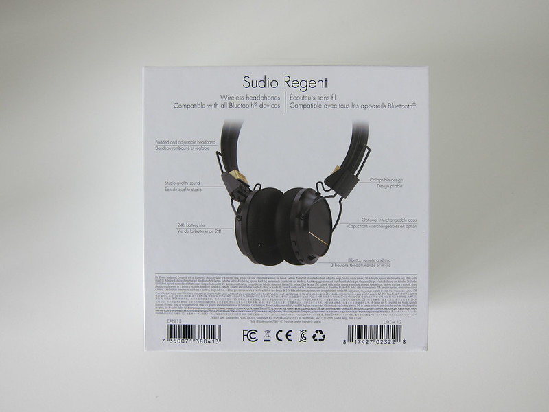 Sudio Regent - Box Back