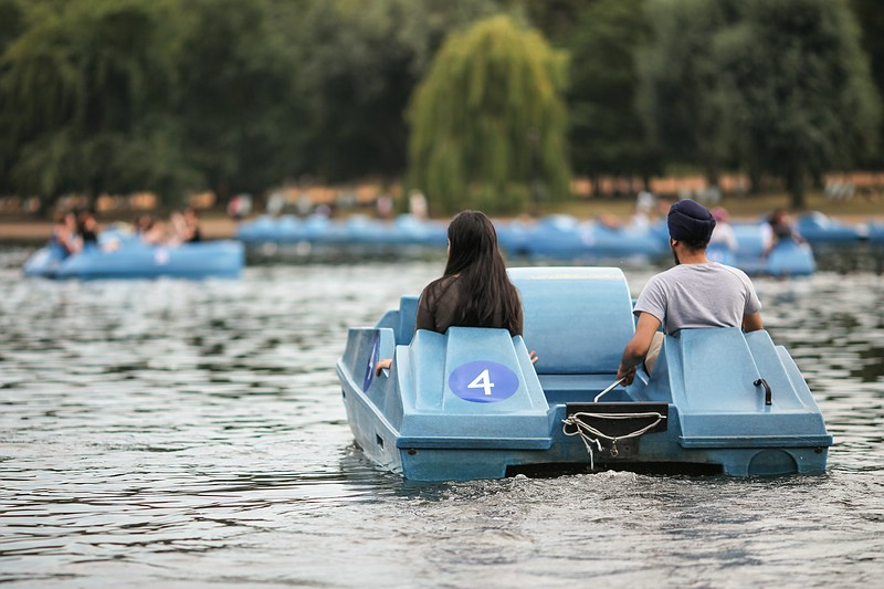 Paddleboat at Hyde Park