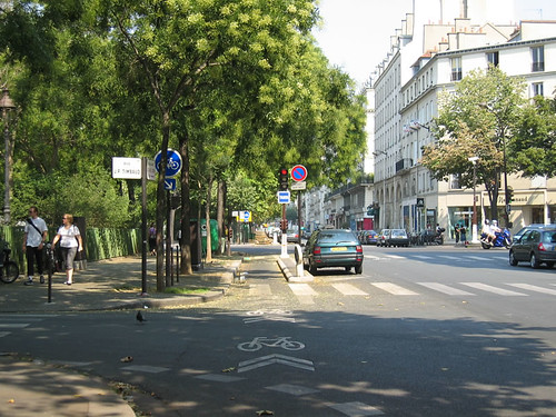 Parisian bike lane