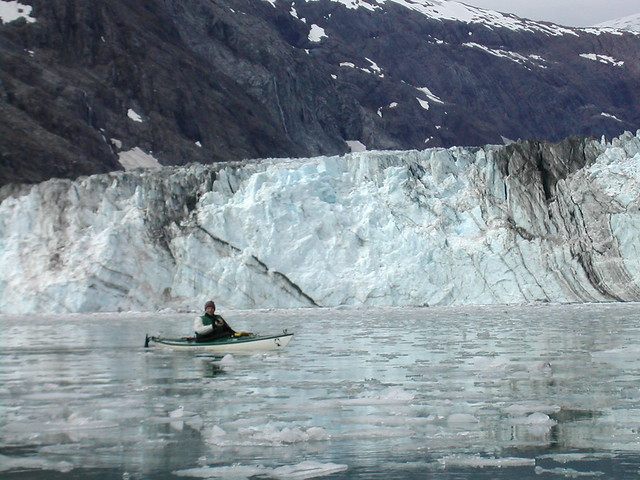 Kayak in Glacier Bay, Alaska