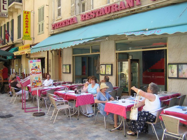 Street cafe in Cannes