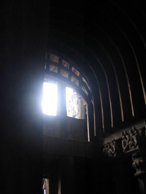 The roof of the chaitya hall