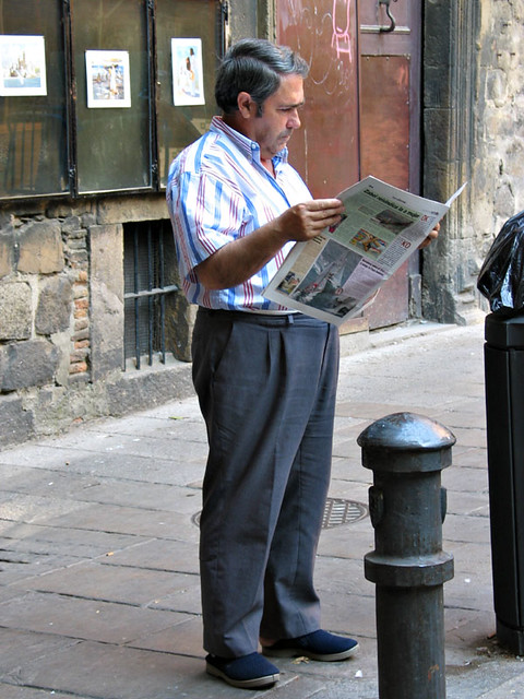 A man reading the paper
