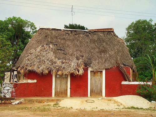 'Na' - a thatched Mayan hut