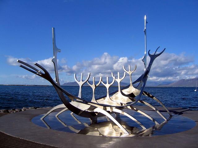 Solfar sculpture, Reykjavik seafront